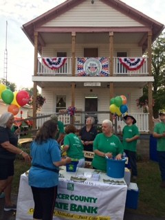Stoneboro Fair Bank Night in front of fair office