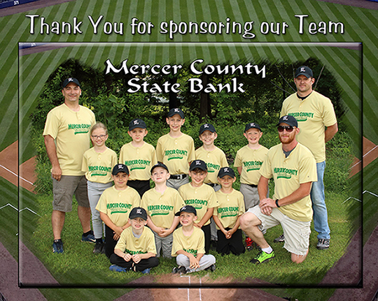 Mercer County State Bank Little League Team 2018