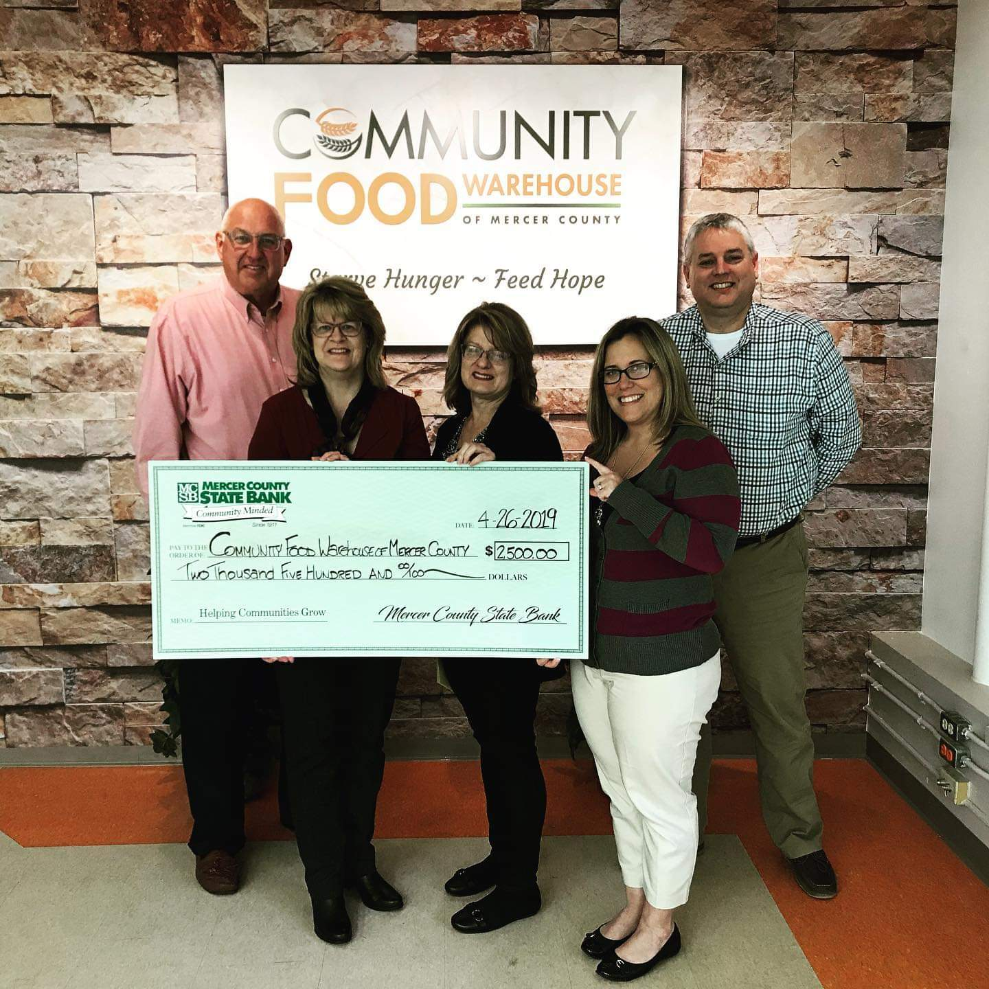 Community Food Warehouse Check Presentation